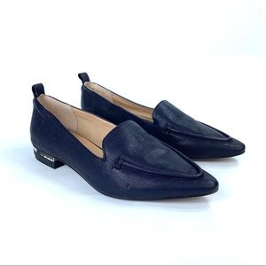 Franco Sarto Susie Navy leather pointed loafer 7M